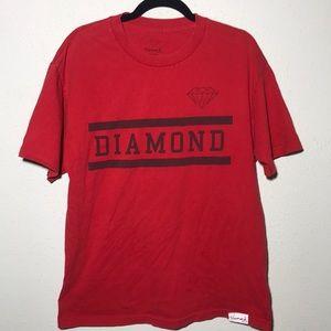 Diamond supply Large Red Tee